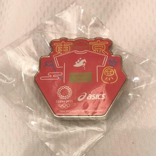 アシックス(asics)のTOKYO2020 オリンピック ピンバッジ 乗馬 asics 非売品(ノベルティグッズ)