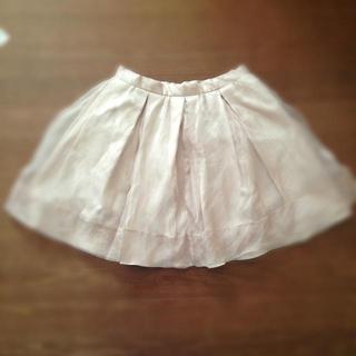 マーキュリーデュオ(MERCURYDUO)のオーガンジースカート ピンク(ミニスカート)