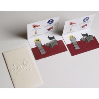 ムジルシリョウヒン(MUJI (無印良品))の無印良品 福缶 しおり2冊とぽち袋1枚(しおり/ステッカー)