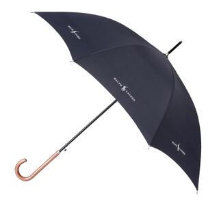 ポロラルフローレン(POLO RALPH LAUREN)のポロラルフローレン 雨傘 無地 リボンロゴ長傘 日本製軽量傘(傘)