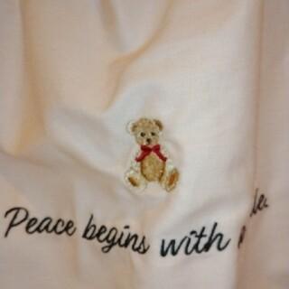 グレイル(GRL)のグレイル クマ刺繍フリルバック(ハンドバッグ)