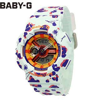 ベビージー(Baby-G)の【中古】Baby-G 美品 BA-110FL アニマル柄(腕時計)