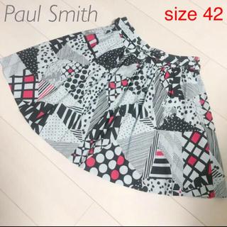 ポールスミス(Paul Smith)のポールスミス 日本製 サイズ42 カラフルデザイン スカート レディース(ひざ丈スカート)