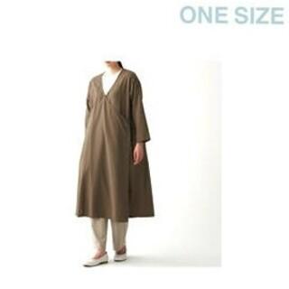 ムジルシリョウヒン(MUJI (無印良品))の《新品》 無印良品  ダブルガーゼ羽織り/ONESIZE/ブラウン(ロングコート)