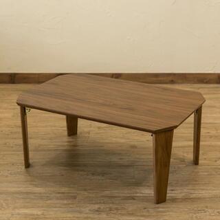 ローテーブル 折りたたみ センターテーブル カフェテーブル ブラウン(ローテーブル)