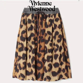 ヴィヴィアンウエストウッド(Vivienne Westwood)のヴィヴィアン レオパード ロング スカート(ロングスカート)