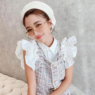 エイミーイストワール(eimy istoire)のeimyistoire♡ ギャザーフリルスリーブシャツ(シャツ/ブラウス(半袖/袖なし))