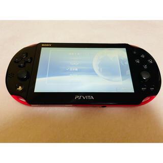 プレイステーションヴィータ(PlayStation Vita)のPSVita PCH-2000 ZA15  本体 ピンクブラック 動作確認済み(家庭用ゲーム機本体)