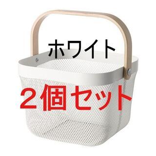 IKEA - [地域限定] 【2個セット】IKEA RISATORP バスケット, ホワイト