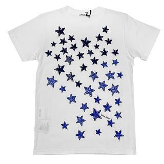 ミュウミュウ(miumiu)の新品ミュウミュウ 星柄Tシャツ 白×青 #XS #M #L miu miu(Tシャツ(半袖/袖なし))