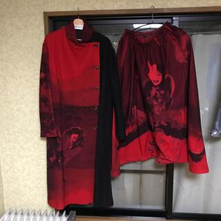 ヨウジヤマモト(Yohji Yamamoto)のyohjiyamamoto18aw 赤フラノセット(セットアップ)
