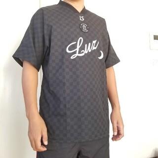ルース(LUZ)のルースイソンブラ サッカー ルース Tシャツ シャカシャカ 半袖 黒 チェック(ウェア)
