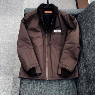 テンダーロイン(TENDERLOIN)のテンダーロイン リブワークジャケット ブラウン[美品](ブルゾン)