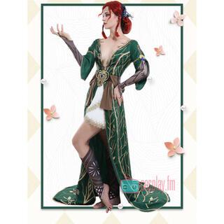 男女 魔術師 トリス・メリゴールド 豪華 ウィッグ靴カバー小物付きフルセット(衣装一式)