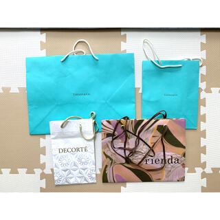 Tiffany & Co. - ブランドショップ袋 紙袋まとめ売り Tiffany コスメデコルテ rienda