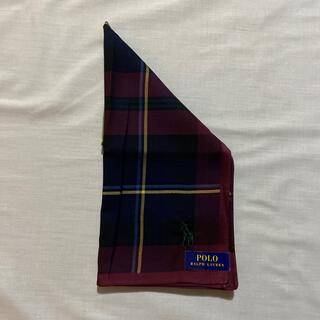 ポロラルフローレン(POLO RALPH LAUREN)のラルフローレン ハンカチ 未使用品 チェック ポニー刺繍 #1014(ハンカチ/ポケットチーフ)