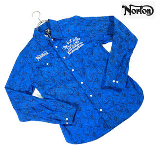ノートン(Norton)の【極美品】 ノートン Norton ペイズリーシャツ 長袖シャツ(シャツ)