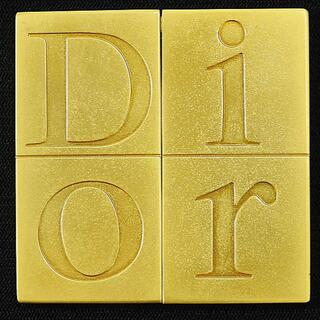Christian Dior クリスチャンディオール 手鏡 ゴールド(ミラー)