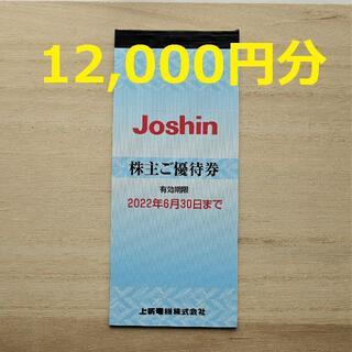 上新電機 株主優待券 12,000円分(ショッピング)