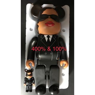 MEDICOM TOY - BE@RBRICK 400%&100%(オマケ) MIB Agent M
