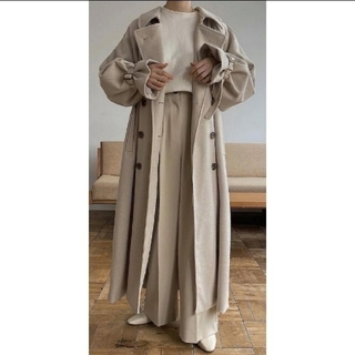 TODAYFUL - willfully jersey melton trench long coat