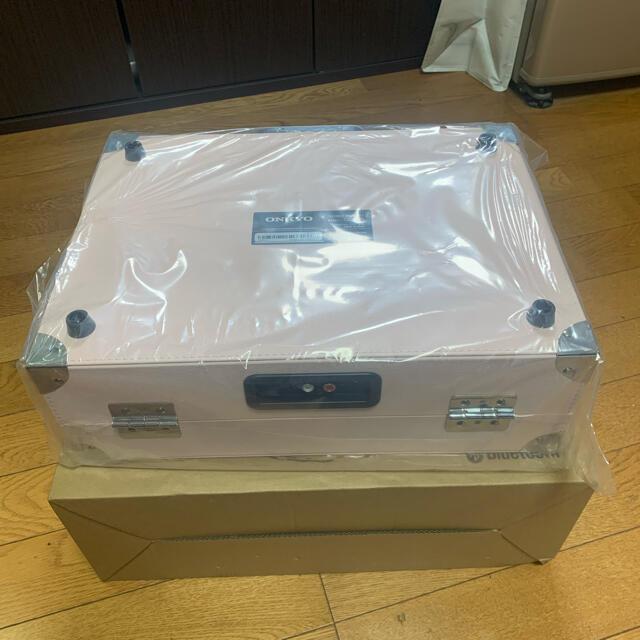 ONKYO(オンキヨー)の新品未開封 ONKYO  ポータブルターンテーブル OCP-01(LB) 楽器のDJ機器(ターンテーブル)の商品写真