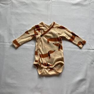 コドモビームス(こども ビームス)のmini rodini  長袖ロンパース サイズ62(ロンパース)