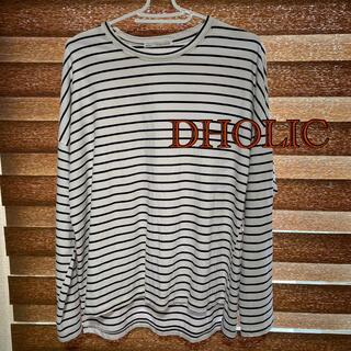 ディーホリック(dholic)のDHOLIC 長袖Tシャツ ボーダー サイズFree (Tシャツ(長袖/七分))