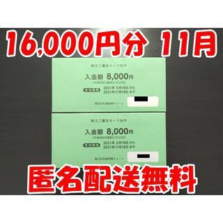 西松屋 株主優待 16,000円分 株主優待券(ショッピング)