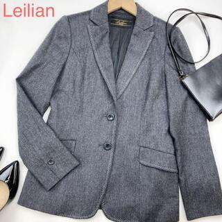 leilian - Leilian デニム調テーラードジャケット 総裏 二つボタン 2898