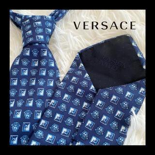 Gianni Versace - 【超美品】ヴェルサーチ イタリア製最高級シルク100%ネクタイ メデューサ ロゴ