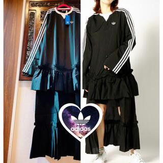 adidas - アディダス デザイン ドレス ワンピース ジャージ スカート ハロウィン 衣装