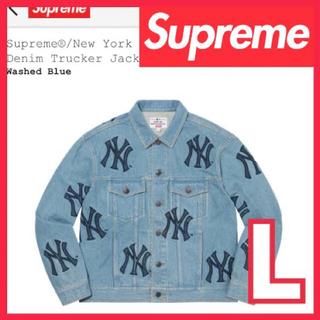 Supreme - New York Yankees Denim Trucker Jacket