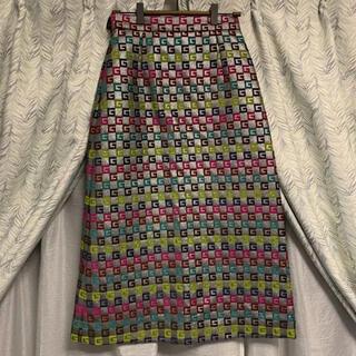 グッチ(Gucci)の試着のみ 国内正規品 GUCCI グッチ Gロゴ ジャガードロングスカート(ロングスカート)