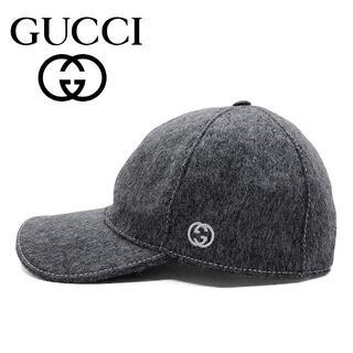 Gucci - 11 GUCCI フェルト ベースボールキャップ 男女兼用 size L