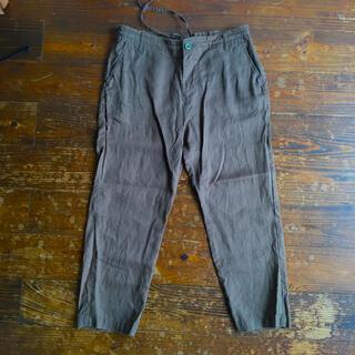 ムジルシリョウヒン(MUJI (無印良品))の無印のリネンパンツ 8.9部丈パンツ ズボン(クロップドパンツ)