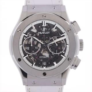 ウブロ(HUBLOT)のウブロ アエロフュージョン オールホワイト TI×革×ラバー   メンズ(腕時計(アナログ))