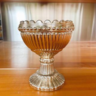 マリボウル アンティーク ガラス製 ゴールド(彫刻/オブジェ)