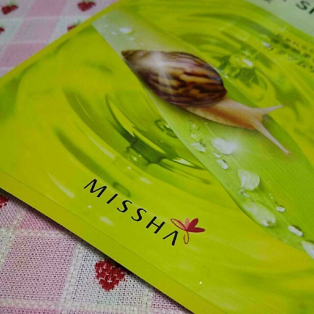MISSHA(ミシャ)の【ミシャ】フェイスマスク1枚 コスメ/美容のスキンケア/基礎化粧品(パック/フェイスマスク)の商品写真