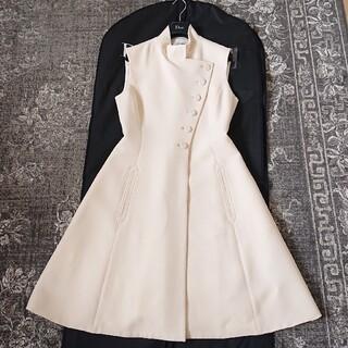 クリスチャンディオール(Christian Dior)のDIOR クリスチャンディオール コートワンピース 美品(ひざ丈ワンピース)