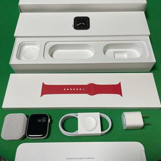 アップルウォッチ(Apple Watch)のApple Watch Series5 44mm GPS REDスポーツバンド(腕時計(デジタル))