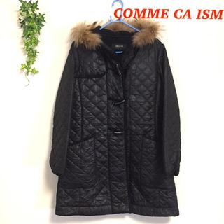 コムサイズム(COMME CA ISM)の☆オススメ☆ コムサ イズム キルティング コート ブラック Mサイズ 秋冬(ダッフルコート)