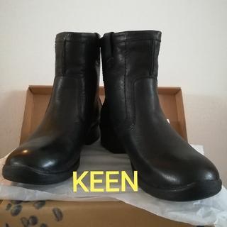 KEEN - キーン 革 ショートブーツ 黒 ブラック