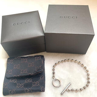 Gucci - GUCCI グッチ ブレスレット ボールチェーン リング シルバー
