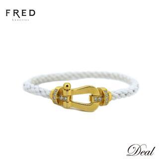 フレッド(FRED)のYG製 フレッド フォース10 LM ブレスレット 純正ハーフダイヤ #16 白(ブレスレット)