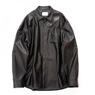 サンシー(SUNSEA)の求 stein fake leather shirt(シャツ)