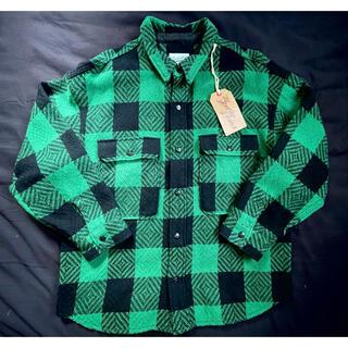 テンダーロイン(TENDERLOIN)のテンダーロイン M バッファロー シャツジャケット 緑  ブロックチェック(ブルゾン)