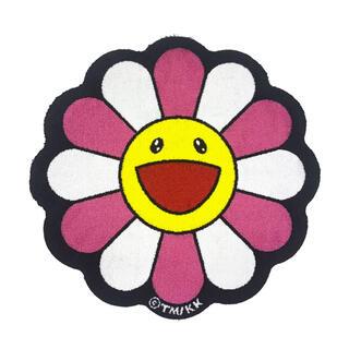 送料込■Flower Floor Mat / Pink × White 村上隆(ラグ)