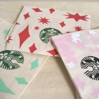 スターバックスコーヒー(Starbucks Coffee)のスターバックス☆オーガニックコットンギフトバッグ☆さくら&ホリデー☆スタバ(その他)