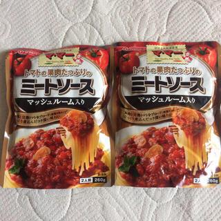 ニッシンセイフン(日清製粉)のマ・マー トマトソースの果肉たっぷりミートソース マッシュルーム入り 2袋(レトルト食品)